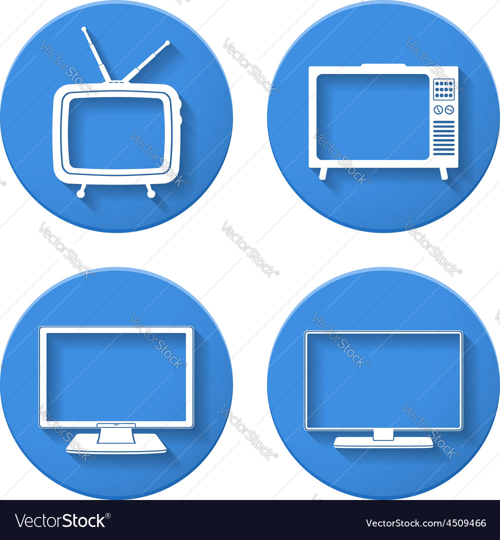 Tv icons vector   Price: 1 Credit (USD $1)