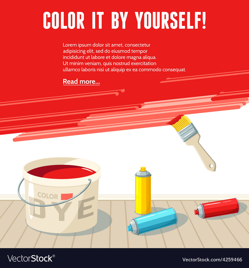 Wall painting poster vector | Price: 1 Credit (USD $1)