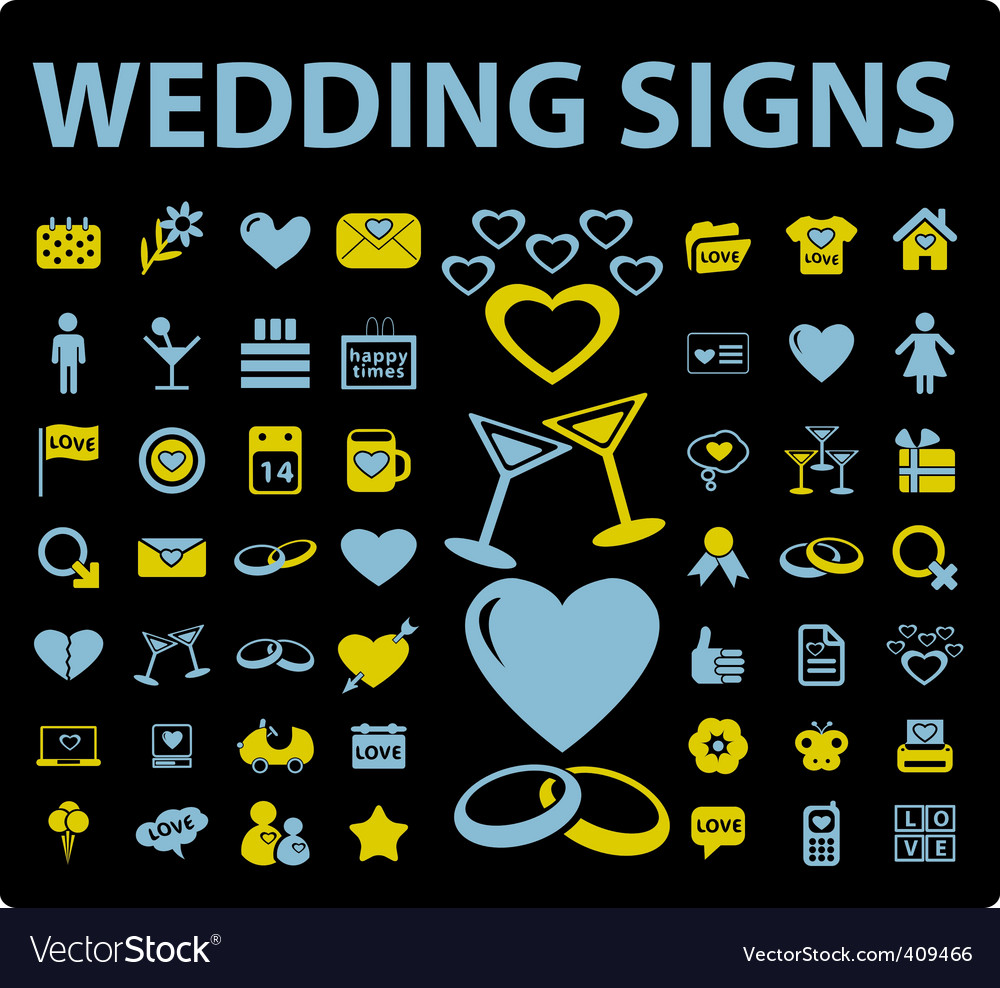Wedding signs vector | Price: 1 Credit (USD $1)