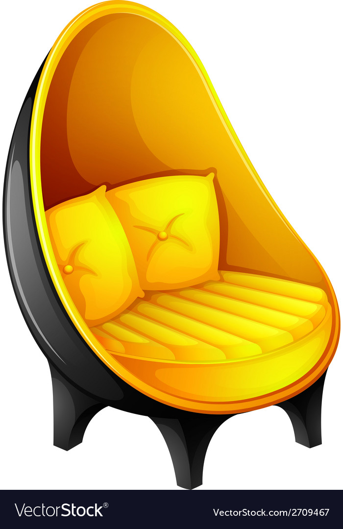 A chair with pillows vector | Price: 1 Credit (USD $1)