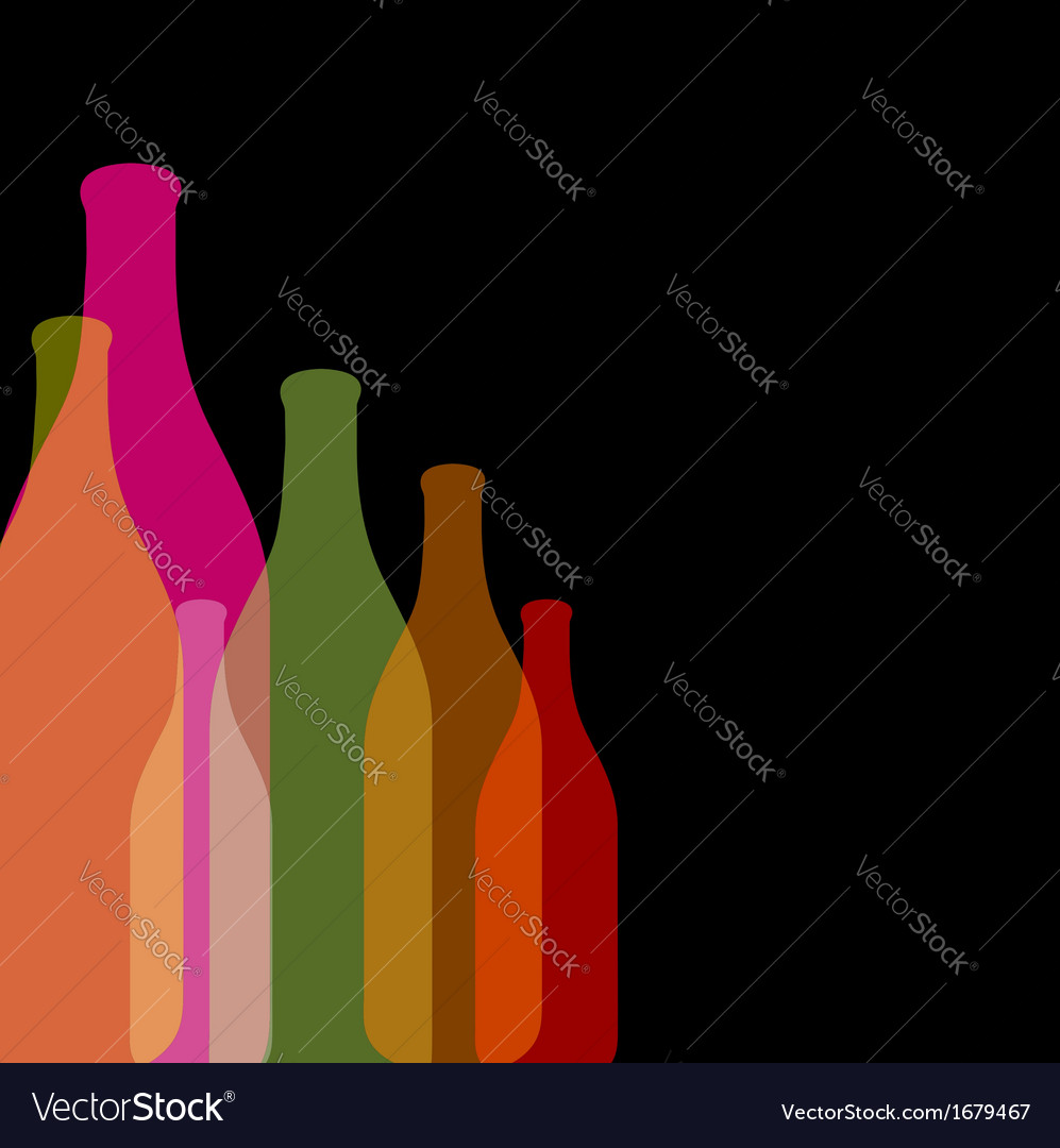Background with colorful bottles vector | Price: 1 Credit (USD $1)