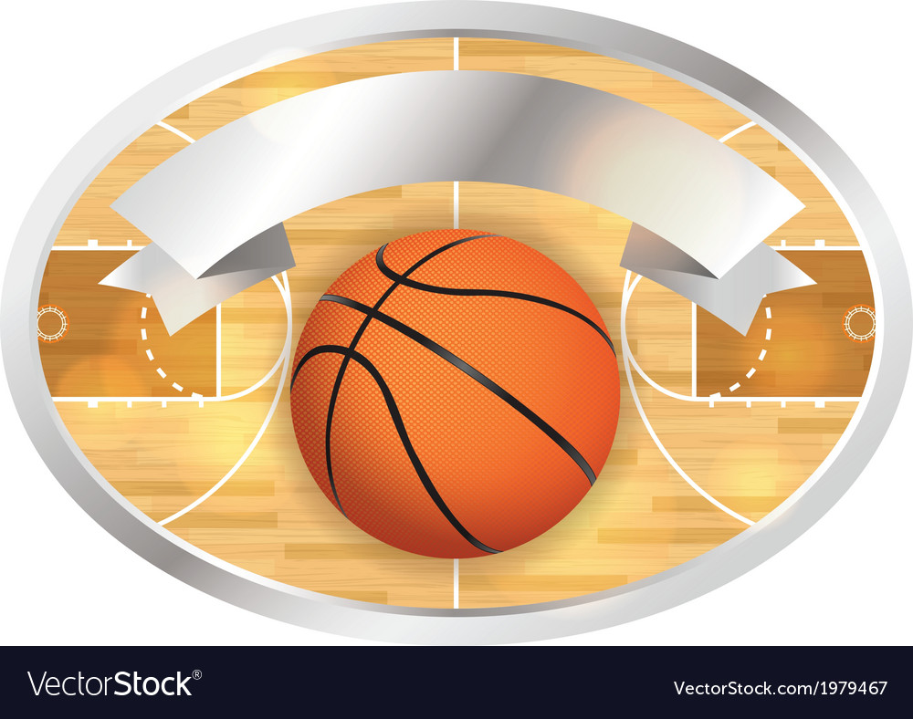 Basketball badge and banner vector | Price: 1 Credit (USD $1)