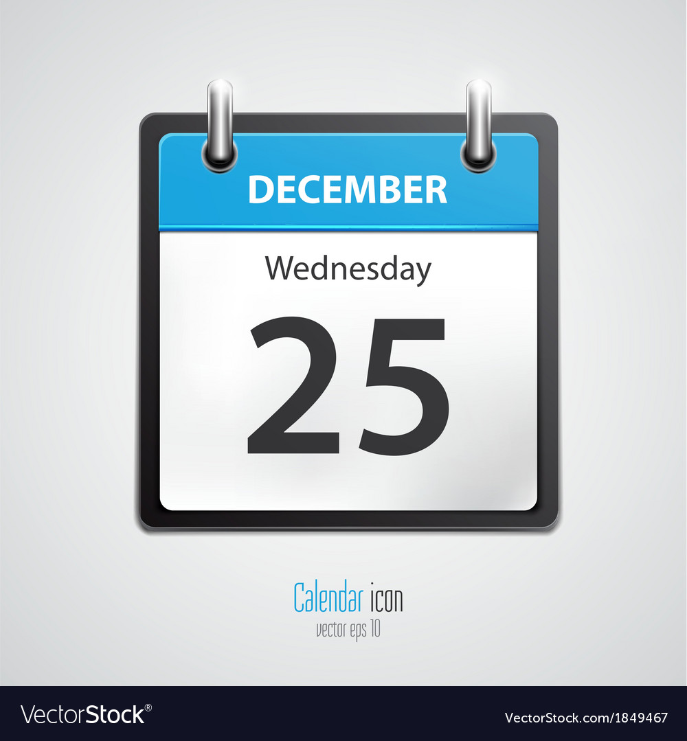 Calendar icon 2 vector | Price: 1 Credit (USD $1)