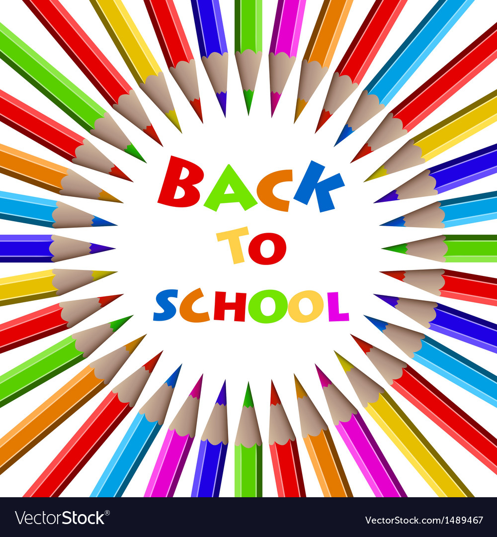 Colorful pencils background back to school vector | Price: 1 Credit (USD $1)