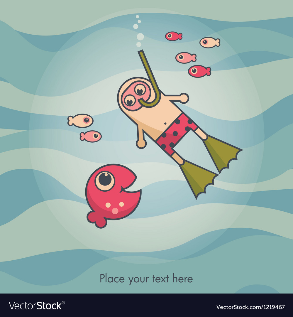 Diving card vector   Price: 1 Credit (USD $1)