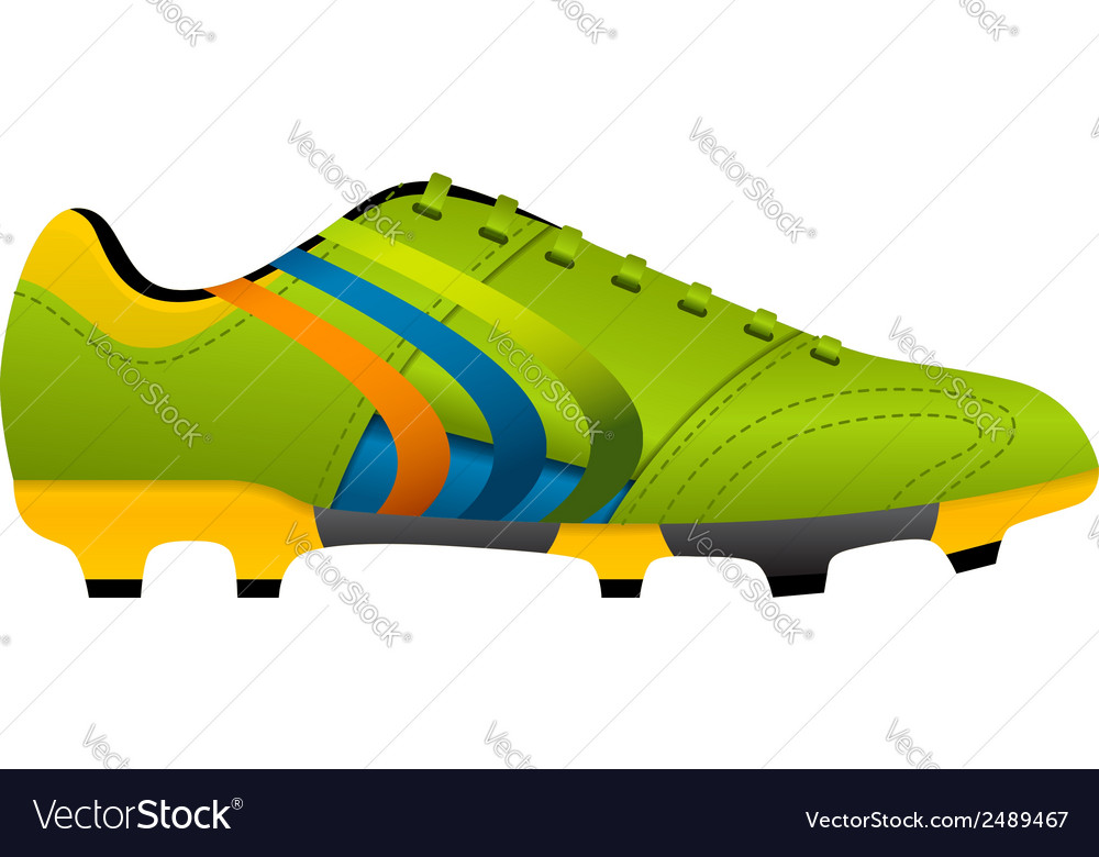 Football soccer boot vector | Price: 1 Credit (USD $1)