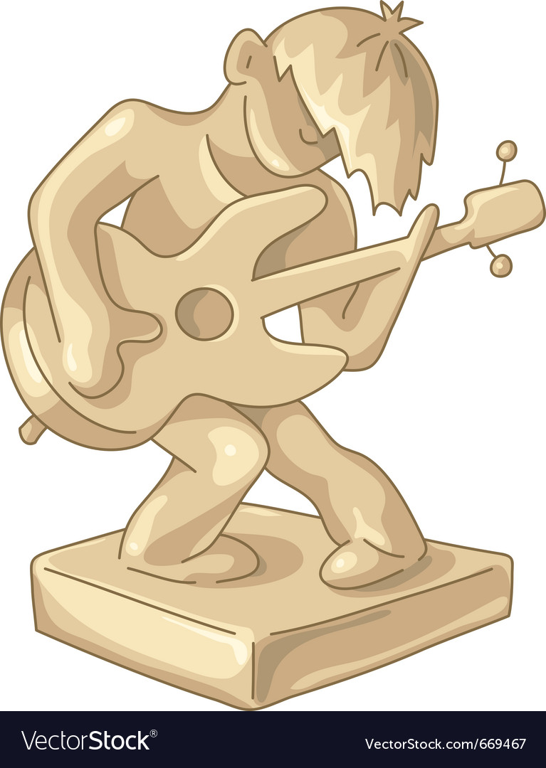 Golden statuette of the guitar player vector | Price: 3 Credit (USD $3)