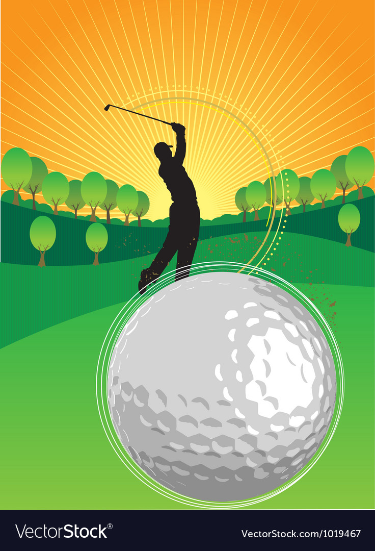 Golf playing vector | Price: 1 Credit (USD $1)