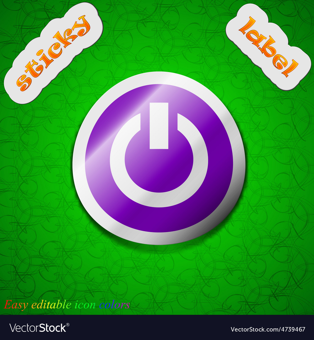 Power switch on turn on icon sign symbol chic vector | Price: 1 Credit (USD $1)