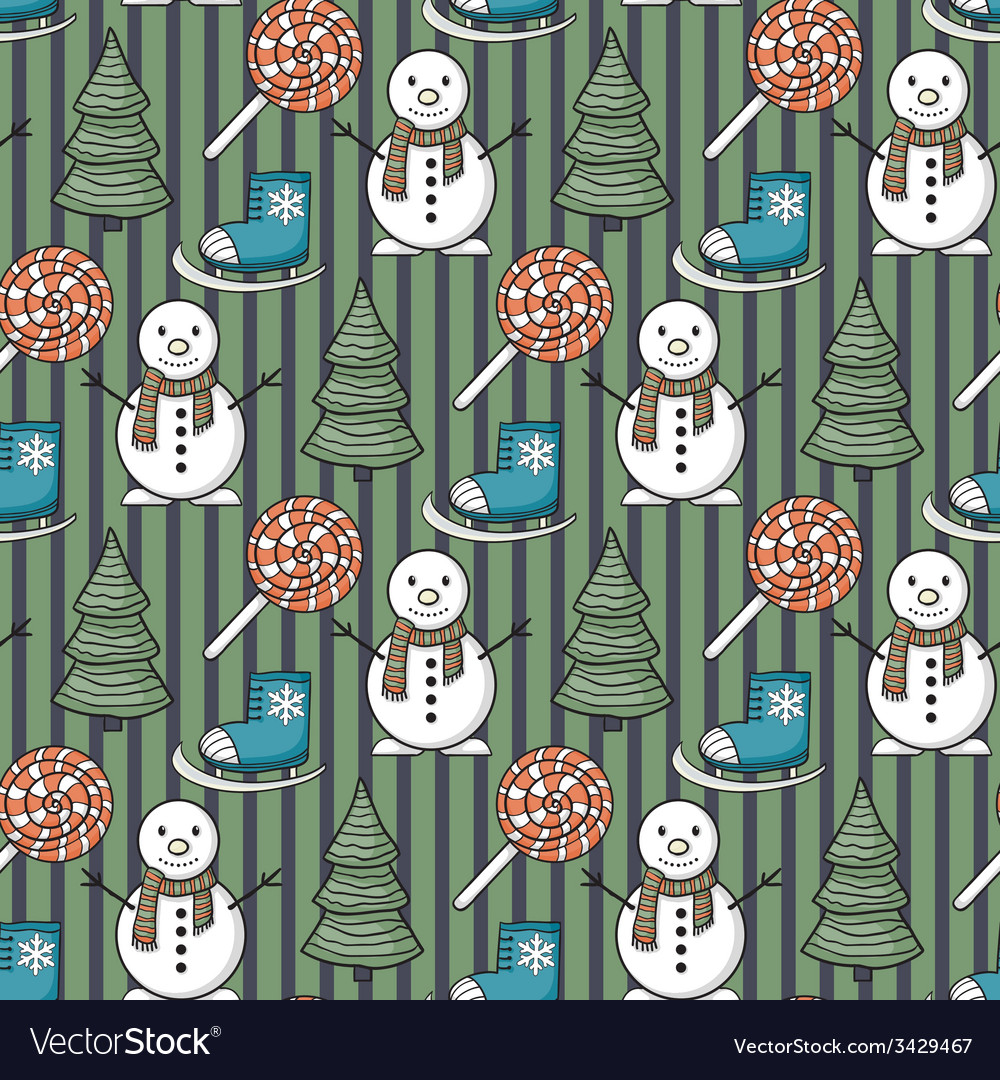 Seamless christmas pattern vector   Price: 1 Credit (USD $1)