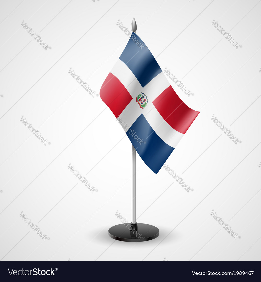 Table flag of dominican republic vector | Price: 1 Credit (USD $1)
