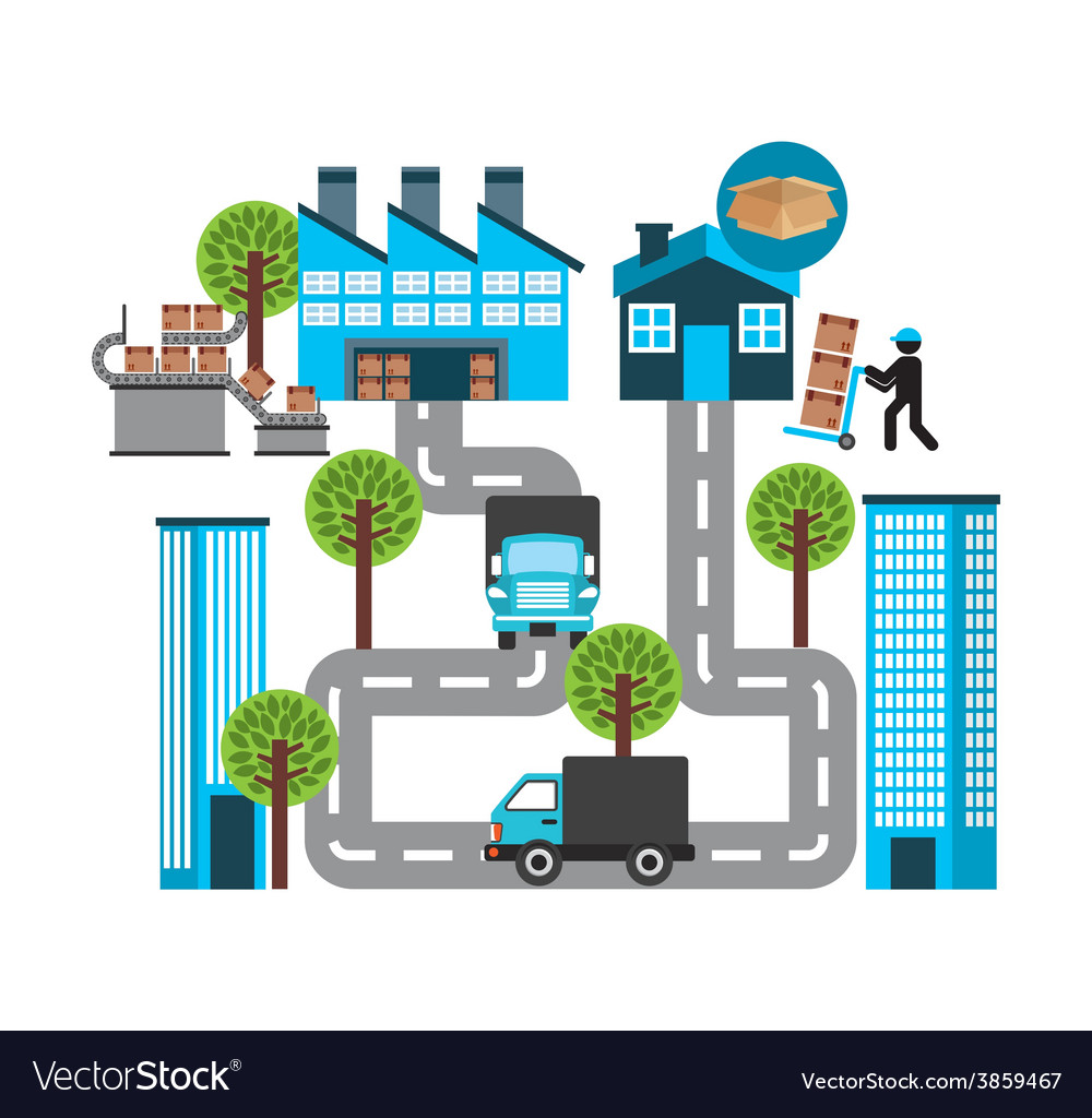 Transport logistics vector   Price: 1 Credit (USD $1)
