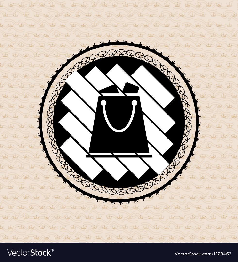 Vintage retro badge  tag  label  shopping bag vector   Price: 1 Credit (USD $1)