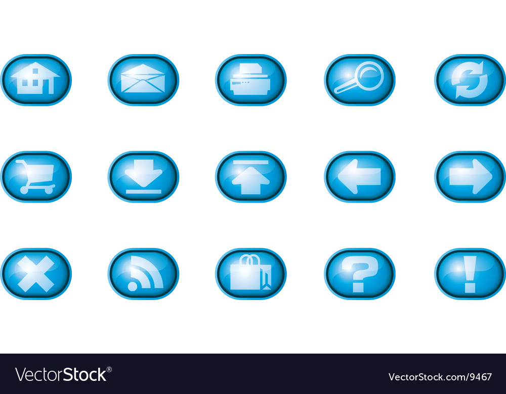 Web icons a blue vector | Price: 1 Credit (USD $1)