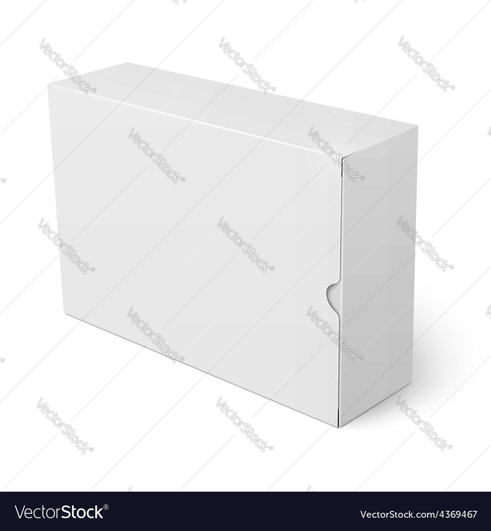 White cardboard box template vector | Price: 1 Credit (USD $1)