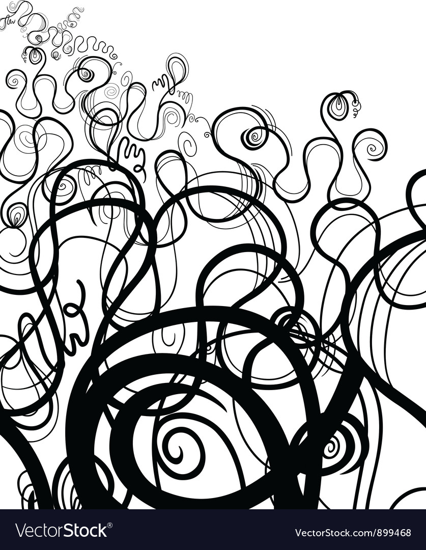 Black and white abstract swirl vector | Price: 1 Credit (USD $1)