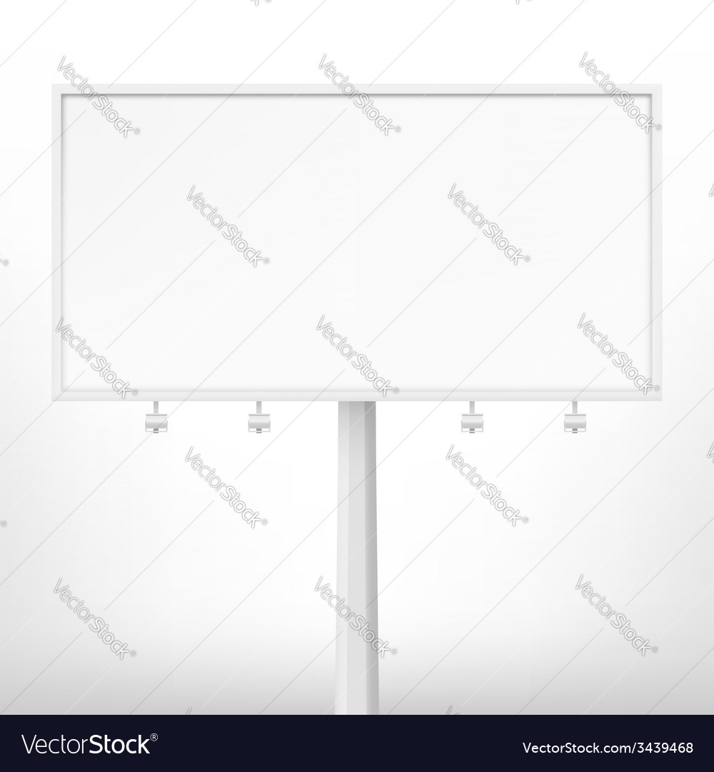 Blank white billboard vector | Price: 1 Credit (USD $1)