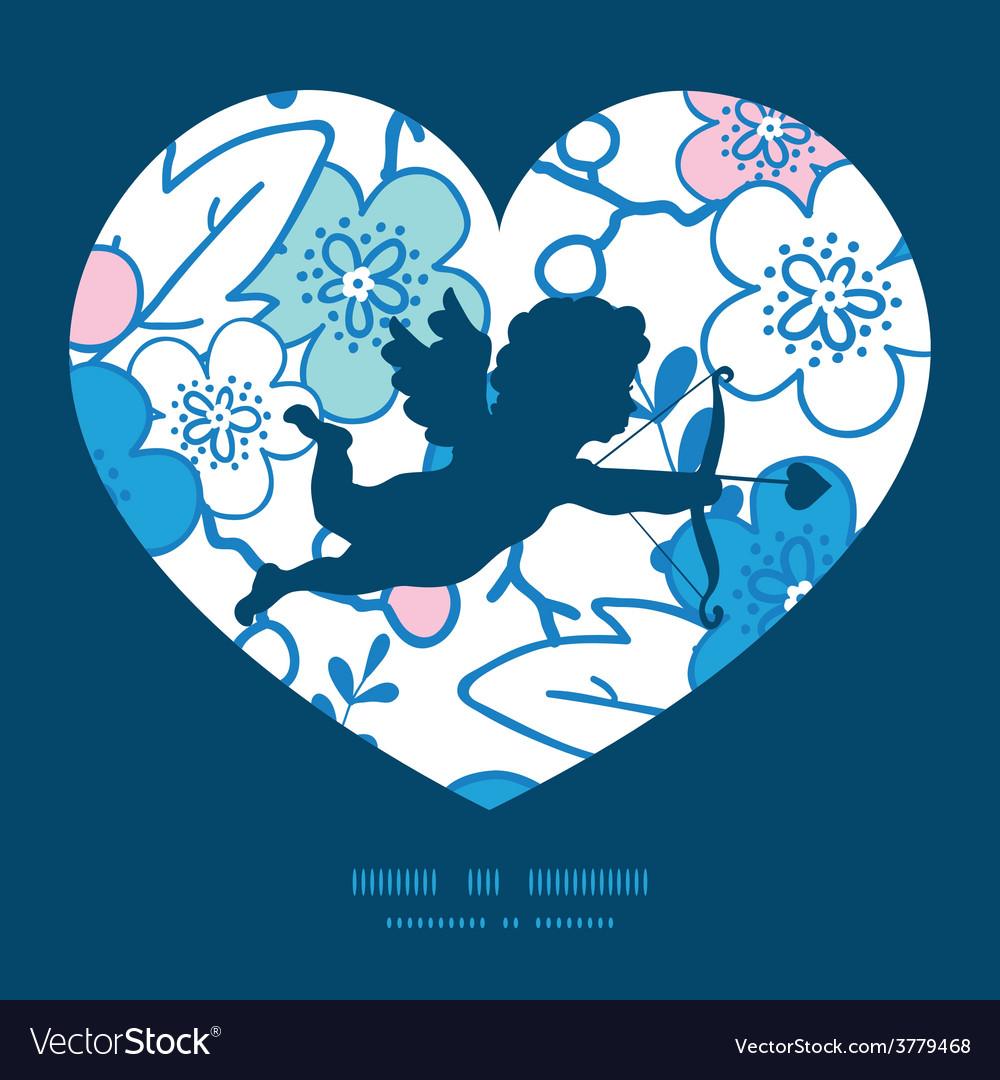 Blue and pink kimono blossoms shooting vector   Price: 1 Credit (USD $1)