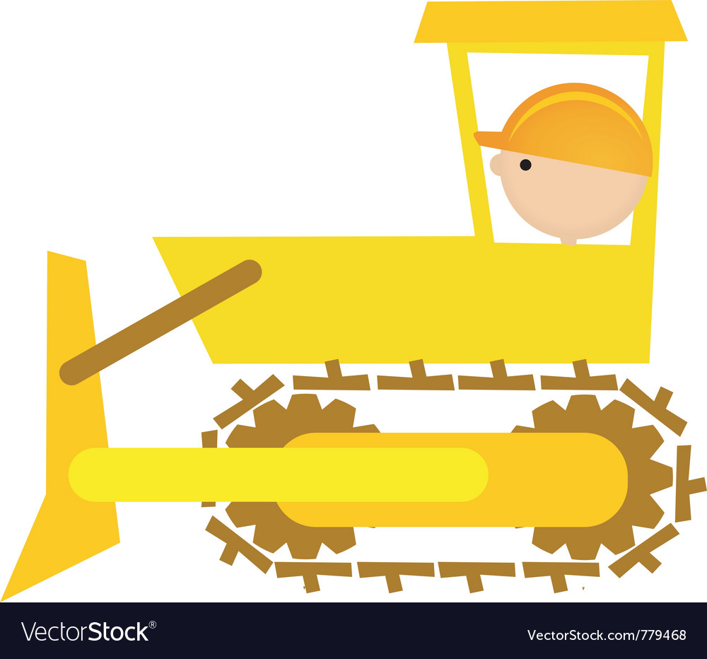 Bulldozer driver vector | Price: 1 Credit (USD $1)