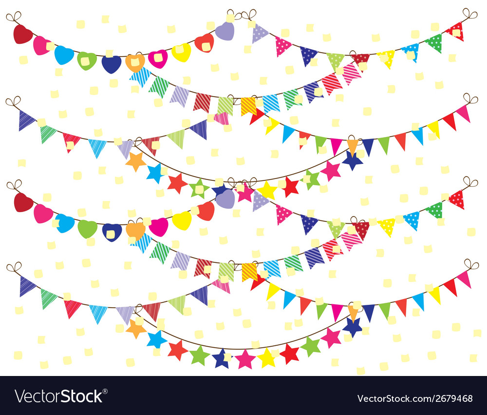 Bunting background vector | Price: 1 Credit (USD $1)