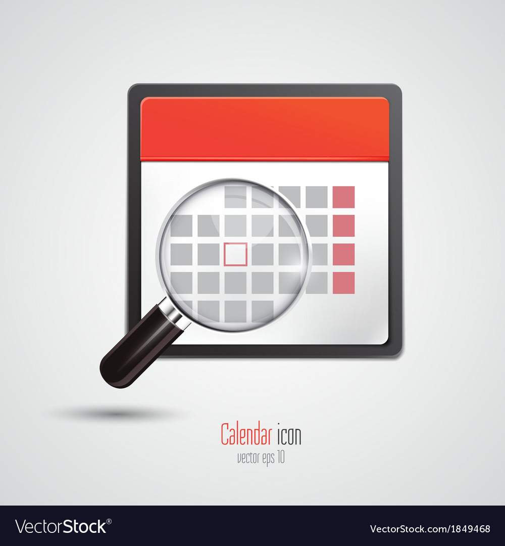 Calendar icon 3 vector | Price: 1 Credit (USD $1)