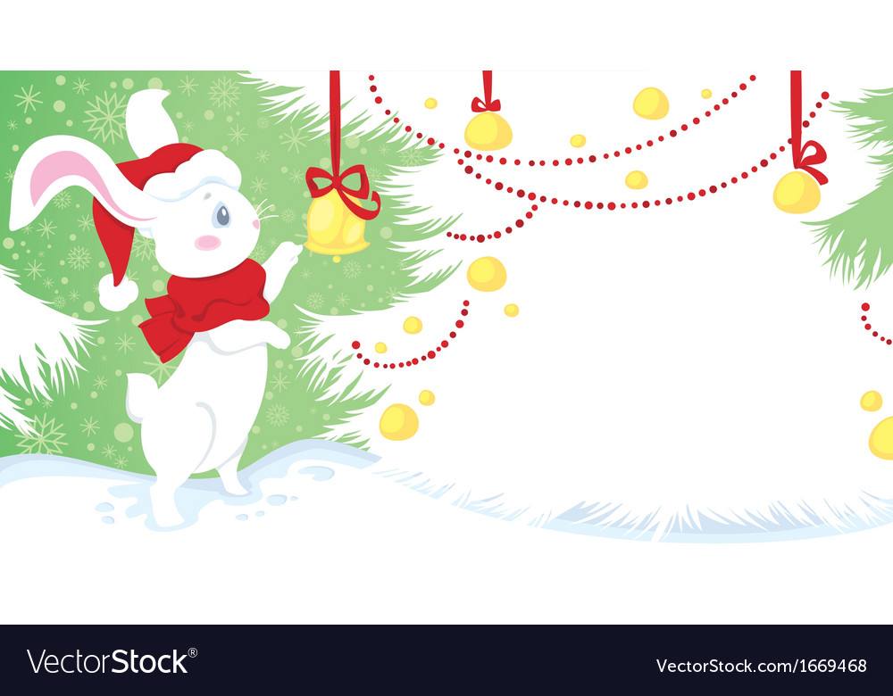 Christmas and new yaer with cute whit vector | Price: 1 Credit (USD $1)