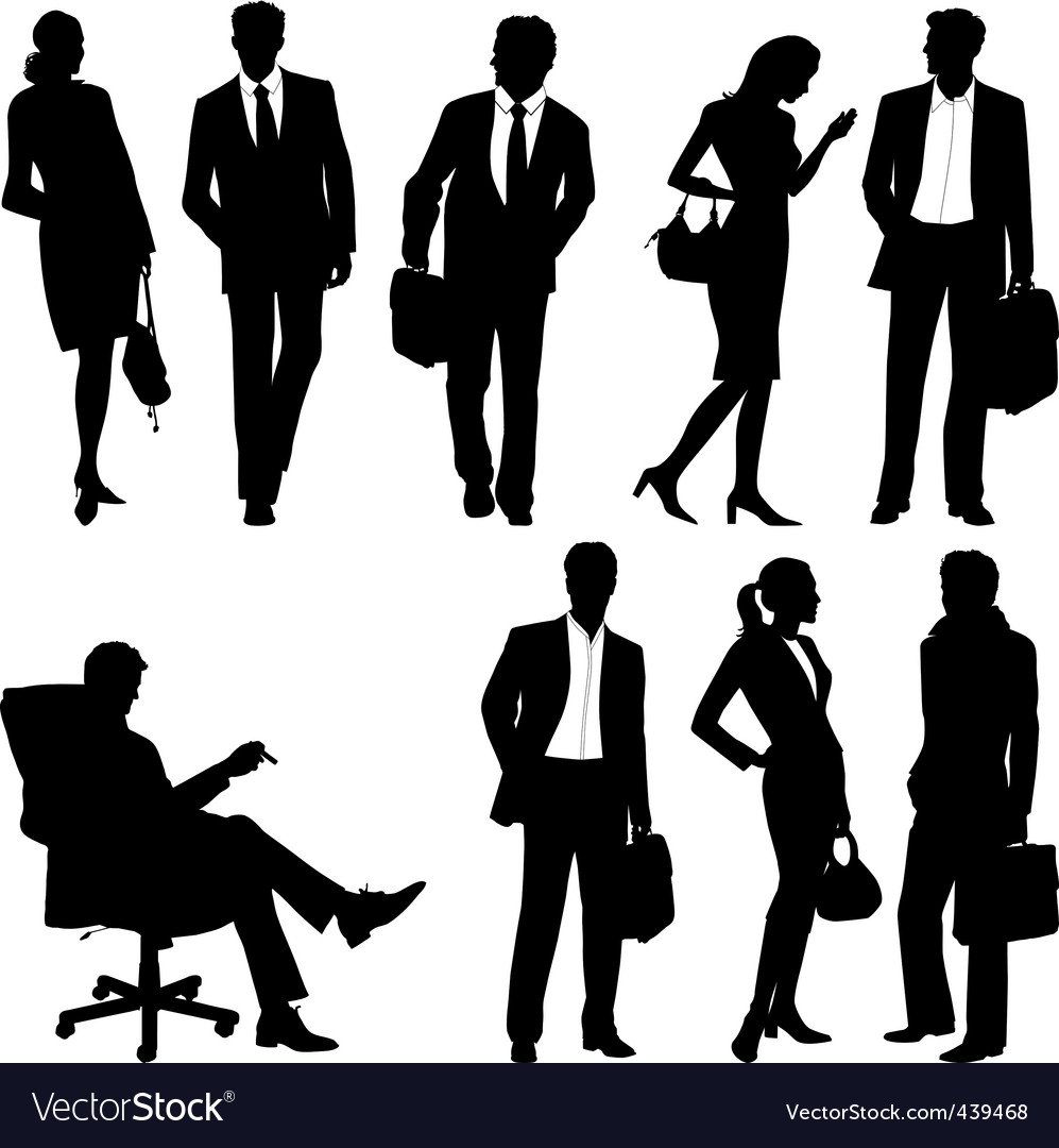 Global team silhouettes vector | Price: 1 Credit (USD $1)