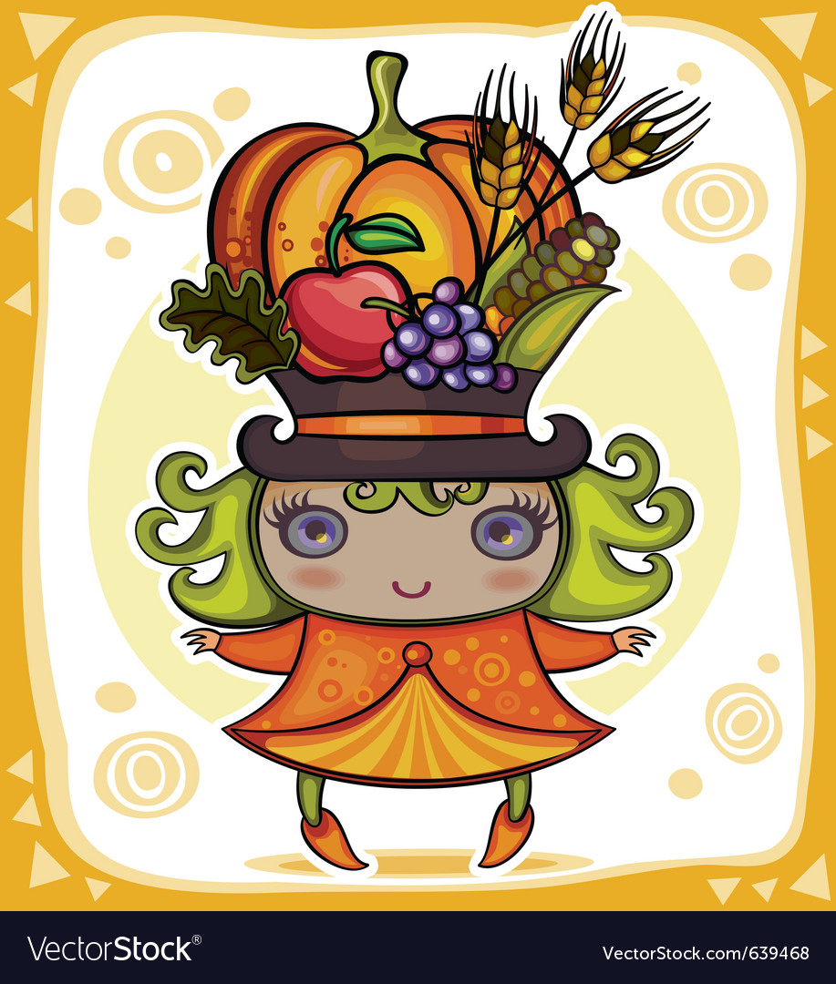Harvest girl vector | Price: 5 Credit (USD $5)