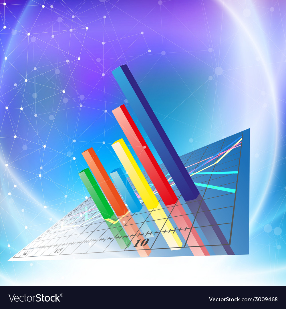 Progressive bar chart abstract vector   Price: 1 Credit (USD $1)