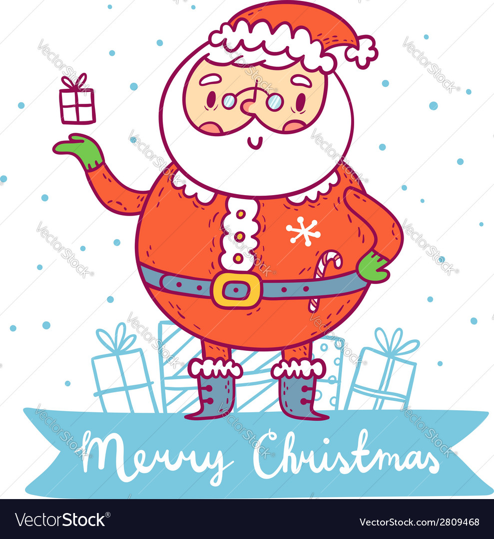 Santa claus christmas greetings vector | Price: 1 Credit (USD $1)
