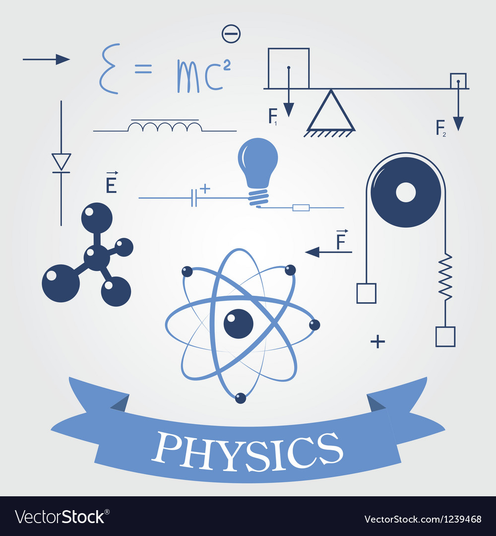 Symbols of physics vector | Price: 1 Credit (USD $1)