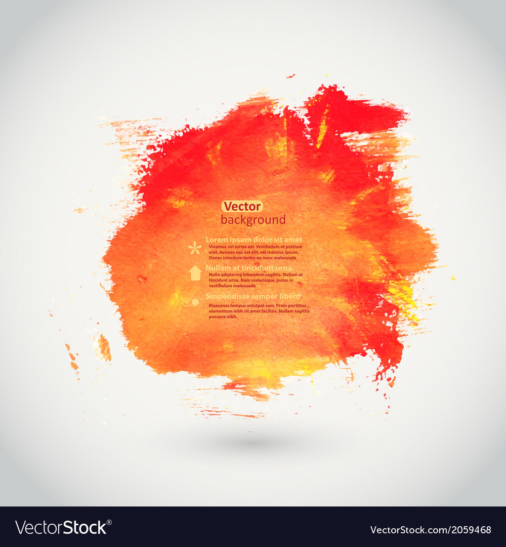 Watercolor texture orange grunge paper template vector | Price: 1 Credit (USD $1)