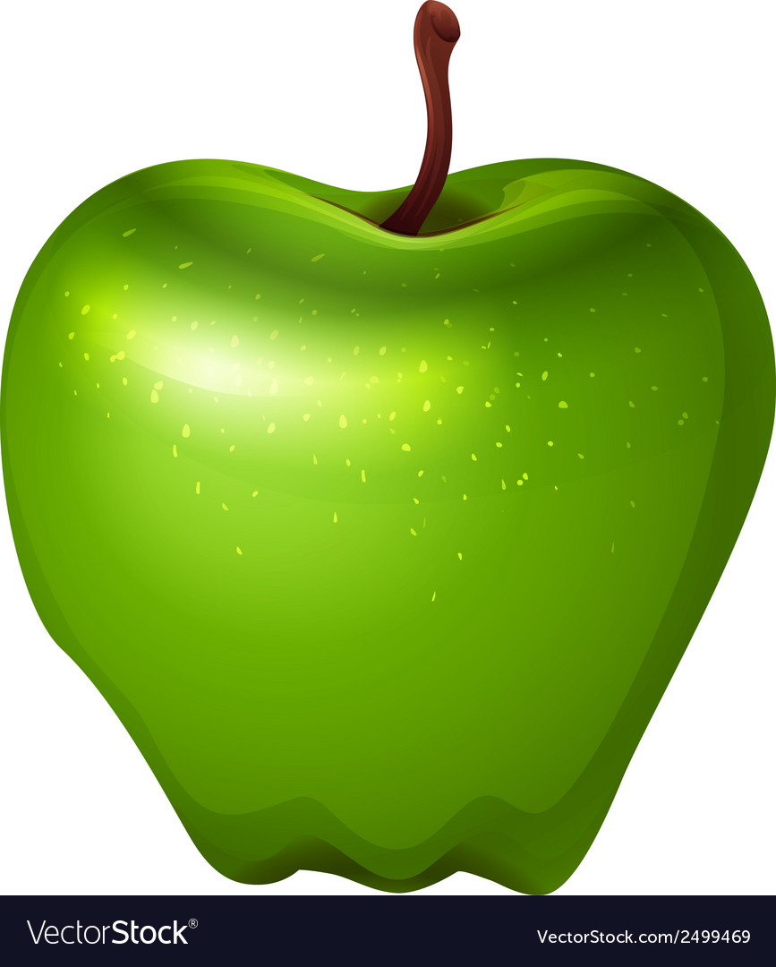 A crunchy green apple vector | Price: 1 Credit (USD $1)