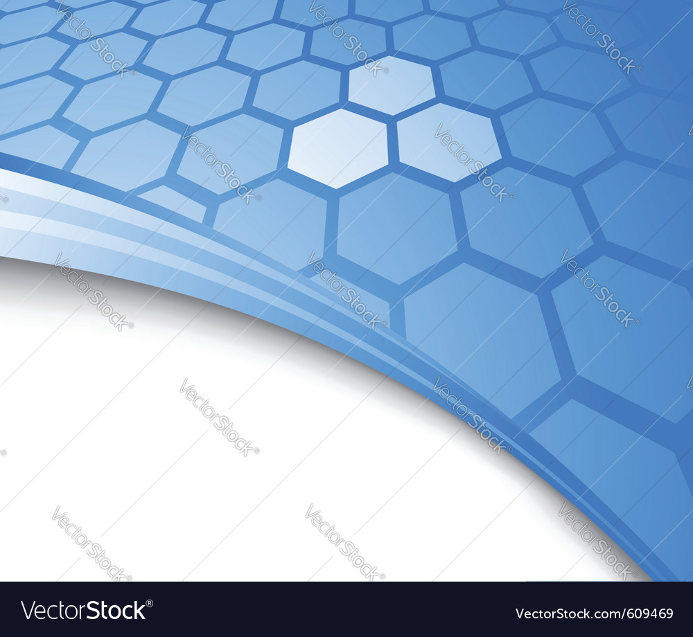Blue abstract background with cells vector | Price: 1 Credit (USD $1)