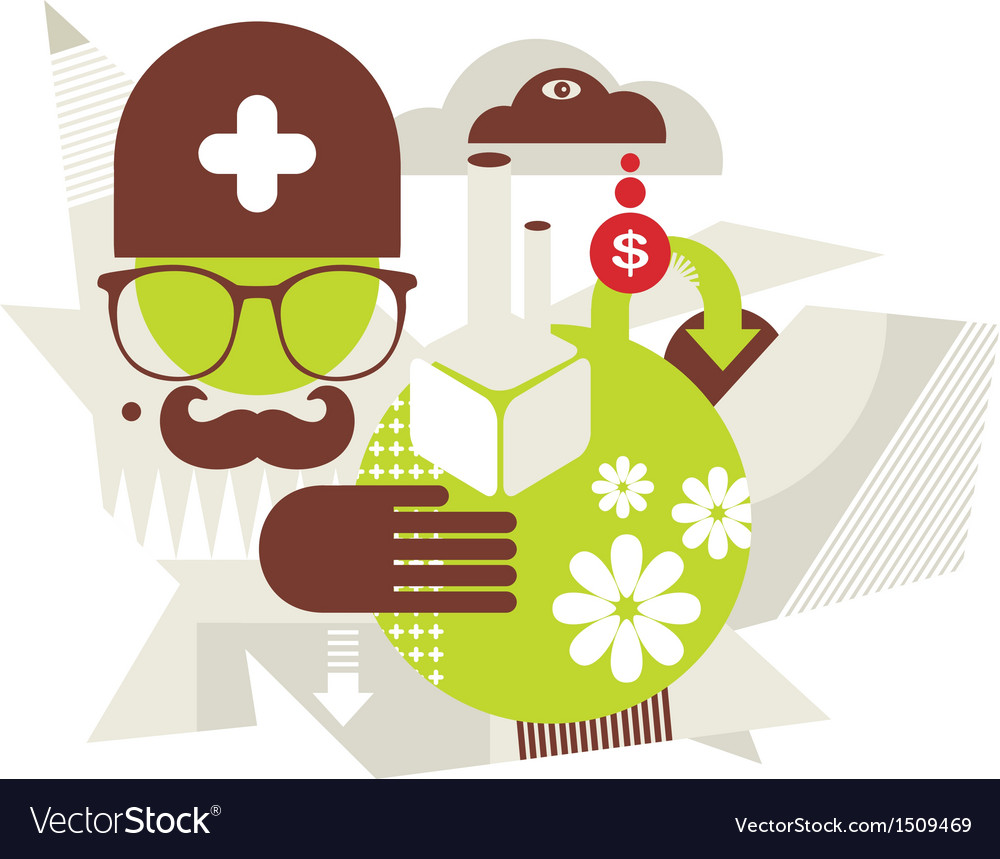 Doctor nature vector | Price: 1 Credit (USD $1)