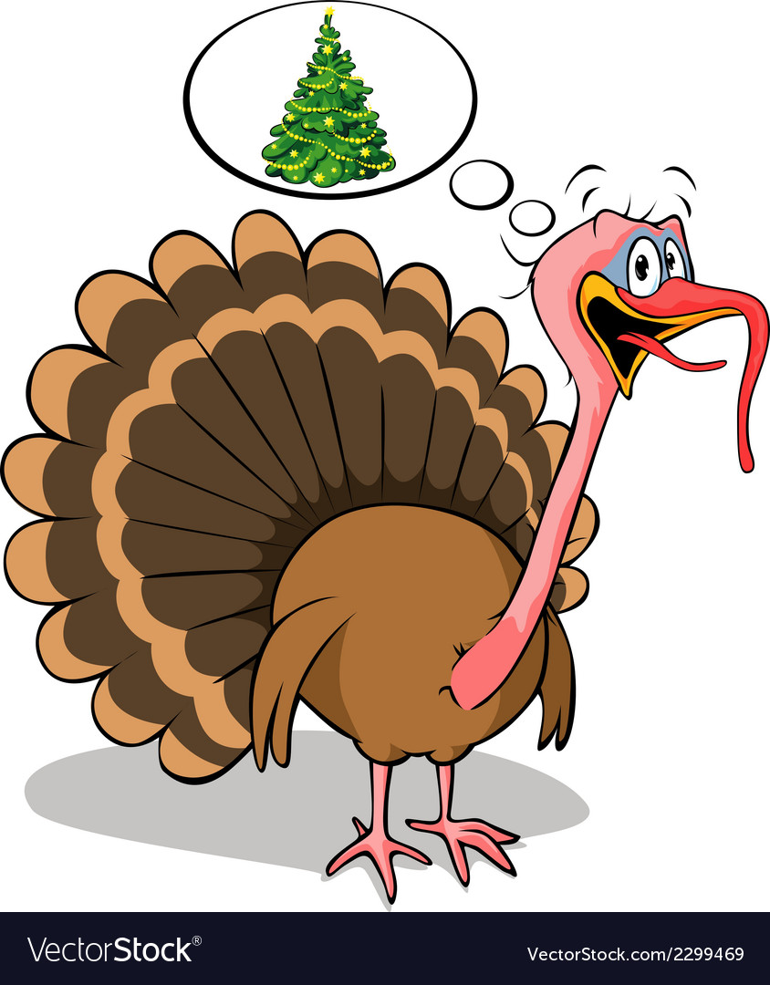 Fat turkey do not like christmas vector | Price: 1 Credit (USD $1)