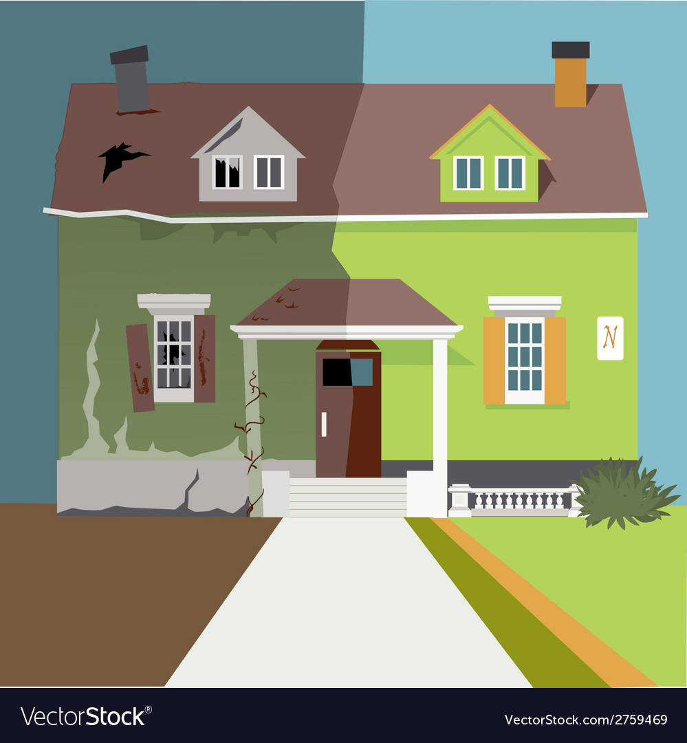 Flip the house vector | Price: 1 Credit (USD $1)
