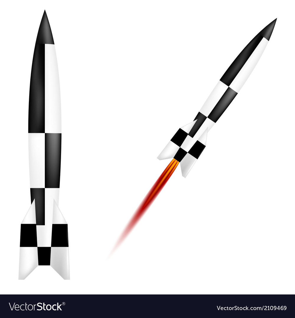 German v-2 rocket vector | Price: 1 Credit (USD $1)