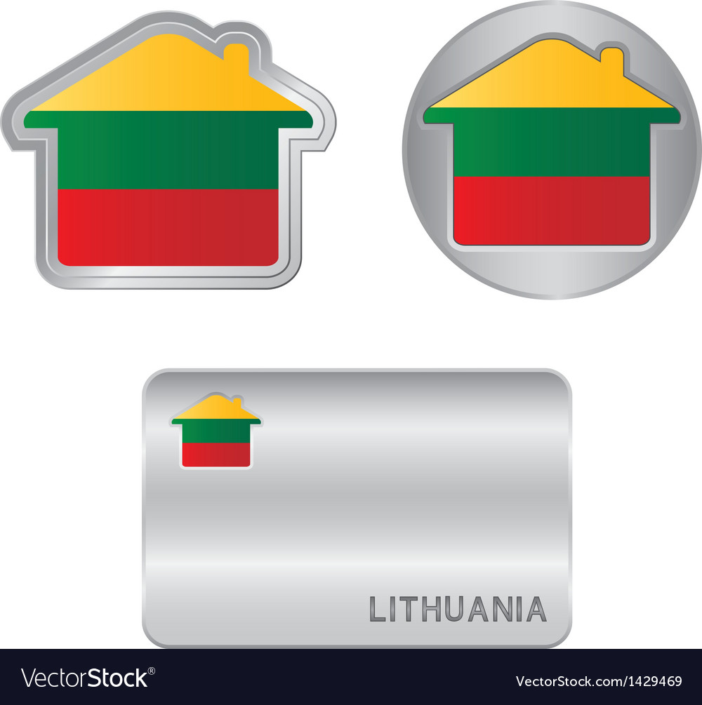 Home icon on the lithuania flag vector   Price: 1 Credit (USD $1)