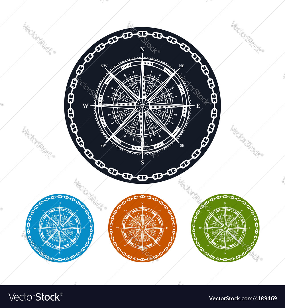 Icon compass rose vector | Price: 1 Credit (USD $1)