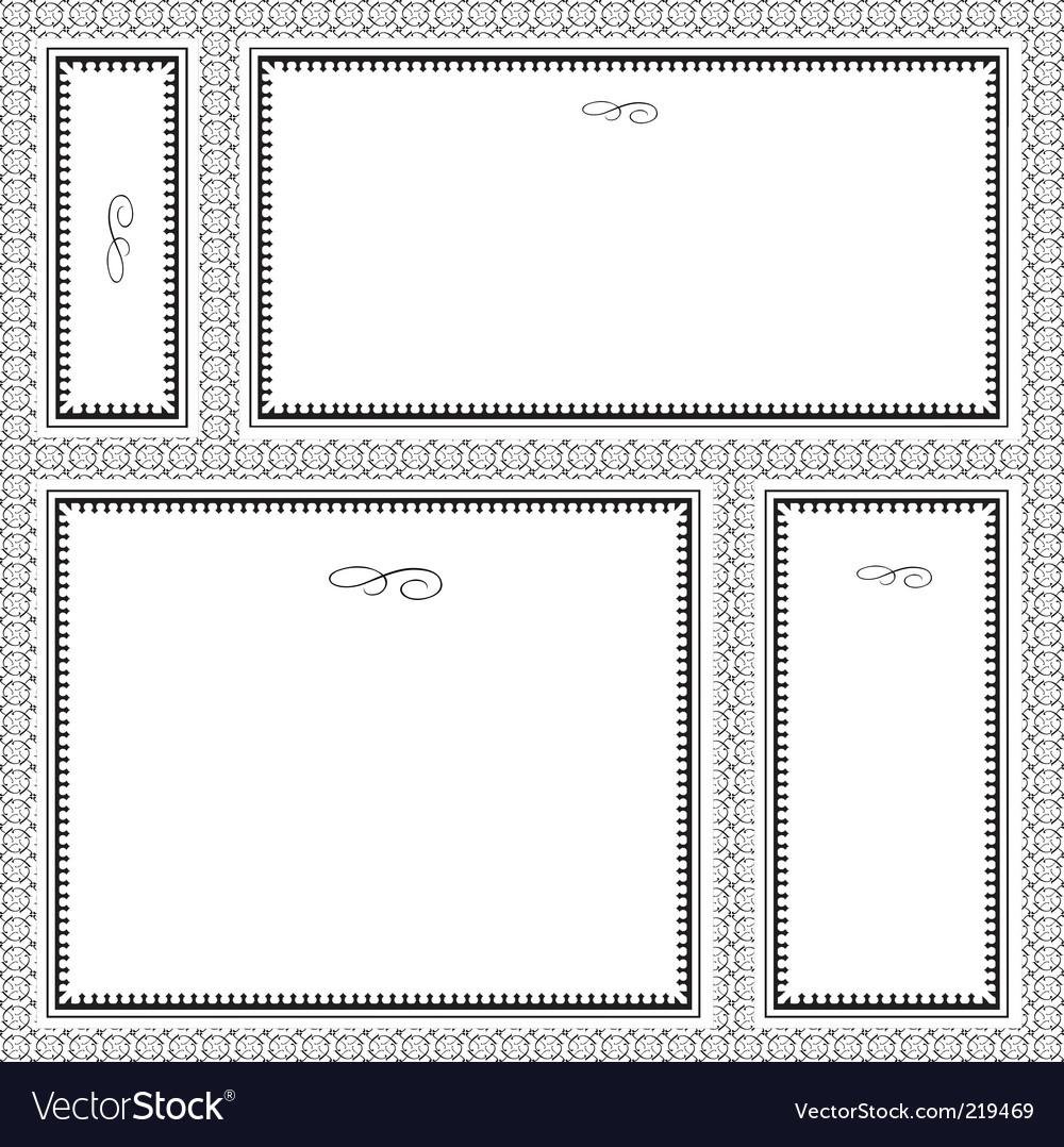 Ornate frames vector | Price: 1 Credit (USD $1)