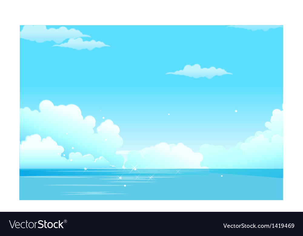 Sea clouded sky vector | Price: 1 Credit (USD $1)
