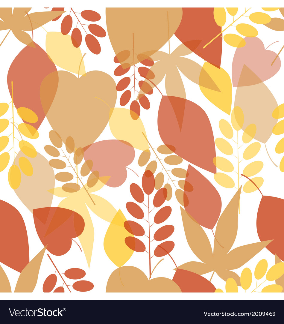 Seamless bright leaves pattern vector | Price: 1 Credit (USD $1)