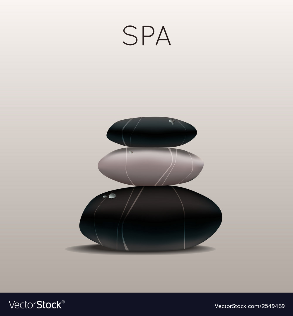 Spa with stones vector | Price: 1 Credit (USD $1)