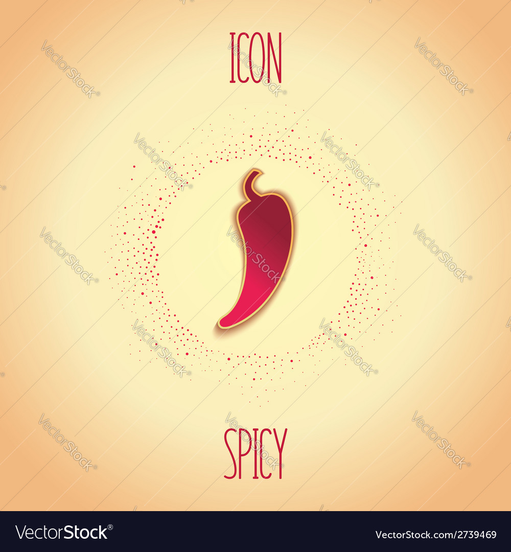 Spicy icon vector | Price: 1 Credit (USD $1)