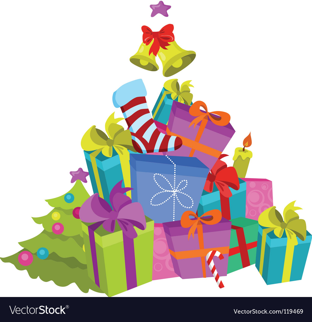 Stack of presents vector | Price: 1 Credit (USD $1)