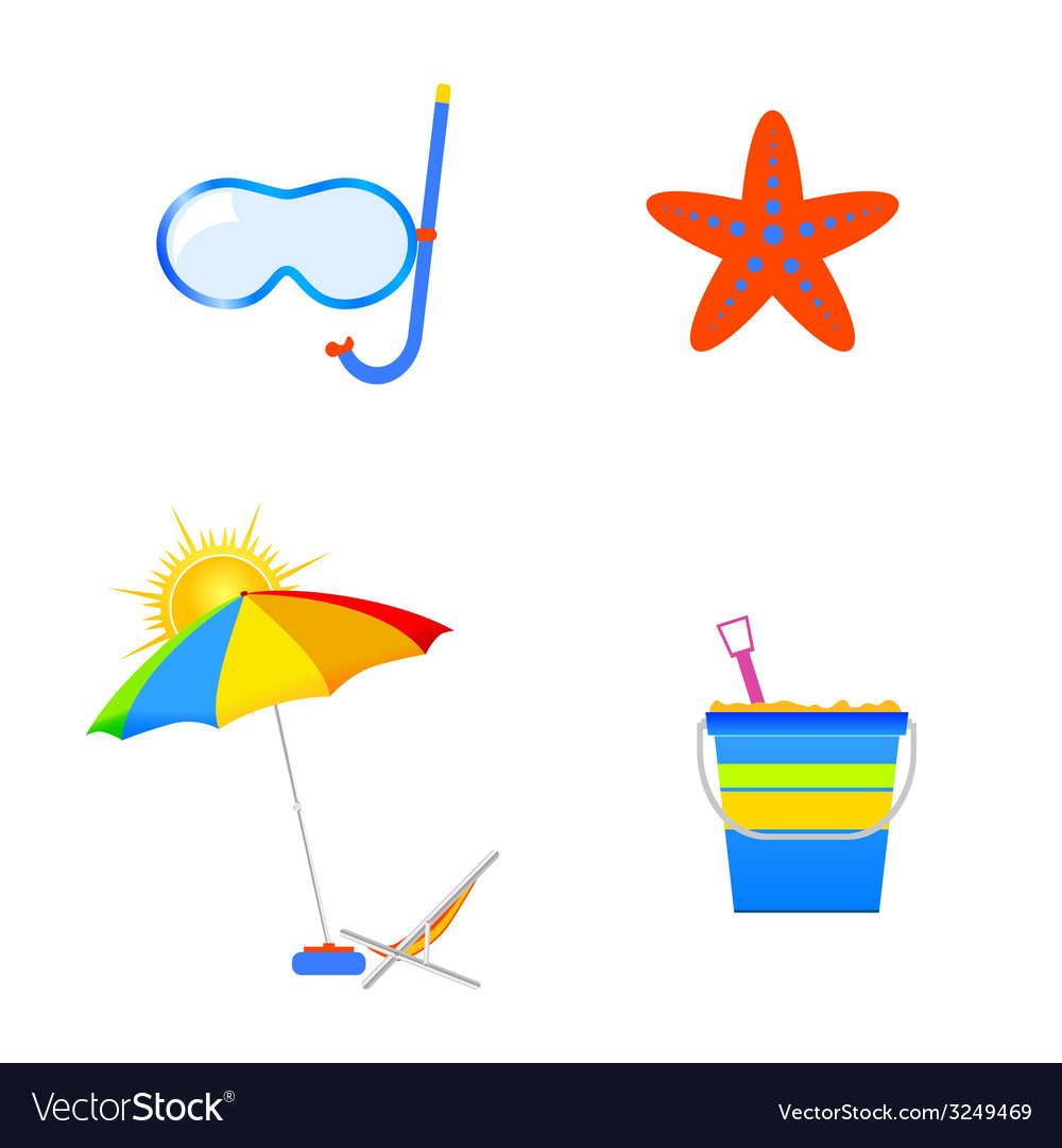 Summer icon art vector | Price: 1 Credit (USD $1)