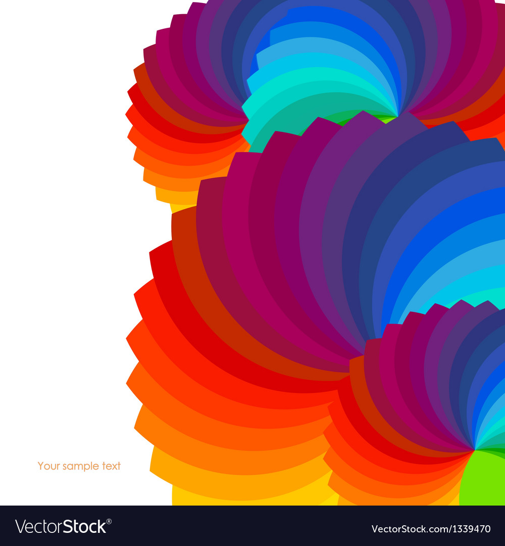Abstract background with spectrum wheels vector | Price: 1 Credit (USD $1)