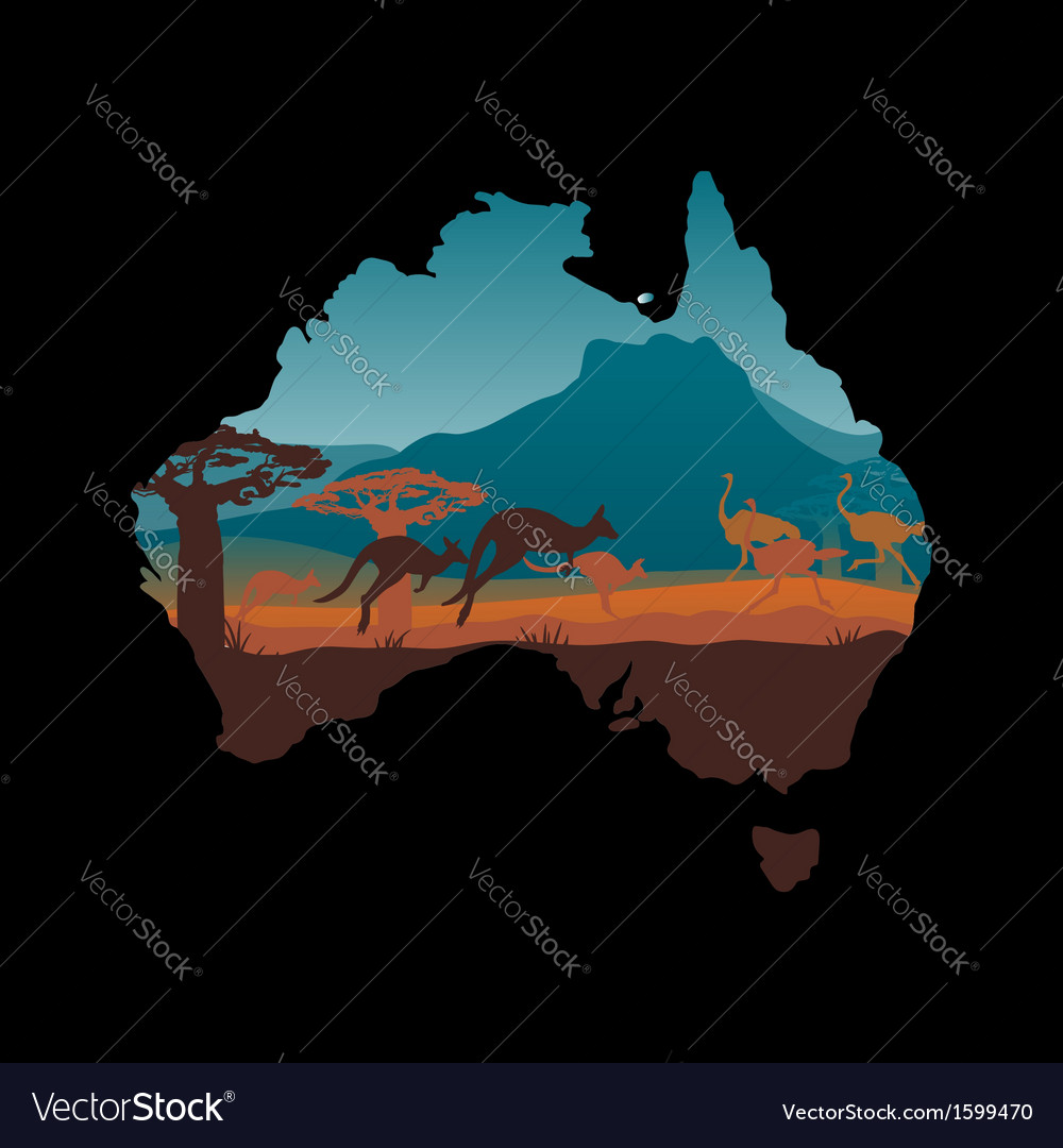 Australia travel design template vector | Price: 1 Credit (USD $1)