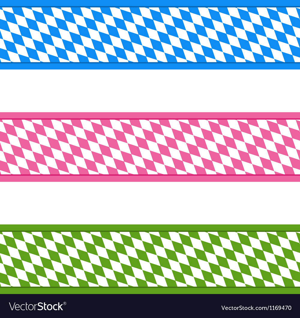 Bavarian ribbons vector | Price: 1 Credit (USD $1)